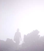 Tongariro Crossing - foggy.