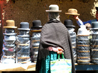 La Paz - hats, hats and more hats.